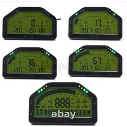 12V Car 9000RPM Dash Race Display Rally Gauge Sensor Kit Dashboard LCD Screen