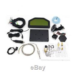 12V Car Dashboard LCD Screen Rally Gauge Dash Race Display Bluetooth Sensor Kit