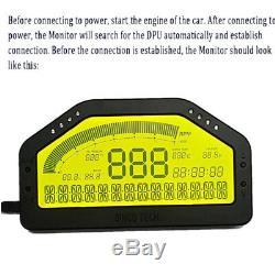 9000rpm LCD Car Dash Race Display Dashboard Gauge Sensor Bluetooth for 12V Car