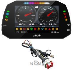 Aim MXG Strada 1.2 Road Icons Car Racing 7 TFT Dash Dash Display CAN Harness