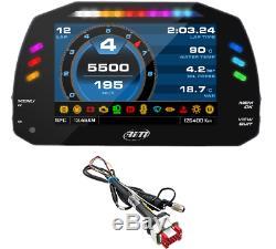 Aim MXS Strada 1.2 Car / Motorbike Bike Race Icons TFT Dash Display CAN Harness