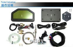 Auto Car Dash Race Display Sensor Bluetooth Alarm LED's LCD Screen Rally Gauge