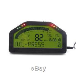 Car Dash Blueteeth OBDII Race Gauge LCD Display Rally Meter RPM Speed Temp Fuel