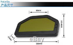 Car Dash Race Bright Full Sensor Set Dashboard LCD Screen Rally Gauge 9V-16V DC