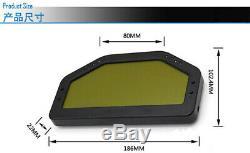 Car Dash Race Display Gauge SENSOR Dashboard LCD Screen 9000rpm Rally Gauge &