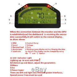 Car Dash Race Display OBD2 Bluetooth Dashboard LCD Screen Digital Gauge Kit Set