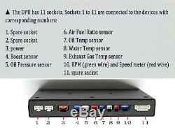 Car SUV Dashboard LCD Screen Rally Gauge Dash Race Display Bluetooth Sensor Kit