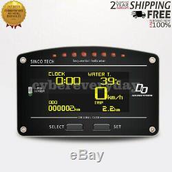 DO907 Racing Dashboard Sensor Kit 12V Car Race Dash Display Gauge Meter 11000RPM