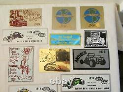 Dash Plaque Emblem Sign Collection, 1970s-1980s, Racing and Street Car Events
