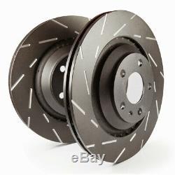 EBC Brake Discs Black Dash Front For VW Transporter T5 T6 USR1329