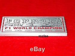 Ferrari F1 Champion Dash Emblem Badge Plate Enzo F430 360 355 599 456 Italia TCK