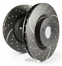 GD1648 EBC Turbo Grooved Brake Discs FRONT (PAIR) fit ABARTH FIAT