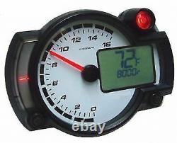Koso RX2NR Dash Race Track Bike Car Tacho Rev Counter Shift Light