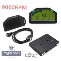 LCD Car Race Dash Gauge Sensor Kit Dashboard 9000rpm Rally Gauge Multi-function&