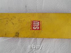 NOS Vintage Stewart Warner Chrome 4 Hole Under Dash Gauge Panel & Original Box
