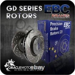 New Ebc Turbo Groove Front Discs Pair Performance Discs Oe Quality Gd7025