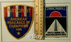 RARE Old Car Patch Lot 1968 American Road Race Champions & Cannonball Sea Dash