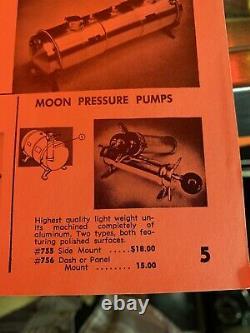 RARE Vintage MOON EQUIPMENT Fuel Pressure Hand Pump SCTA Gasser Race Car