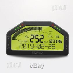 SINCOTECH DO903 Race Dash Display OBD2 Bluetooth Dashboard LCD 9000RPM for Car