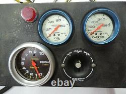 Troyer Race Car Dash Panel / Gauge Cluster Engine Stand / Dyno Autometer