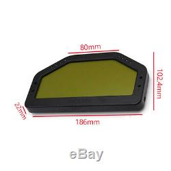 Universal Car Dashboard LCD Rally Gauge Dash Race Display Bluetooth Sensor Kit