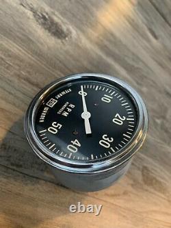 Vintage 5K RPM Tachometer Gauge SCTA Hot Rod Dash Panel TROG Stewart Warner