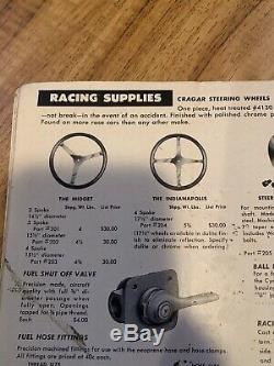 Vintage BELL AUTO PARTS 4 Spoke 15 1/2 Steering Wheel Midget SCTA Dash Panel