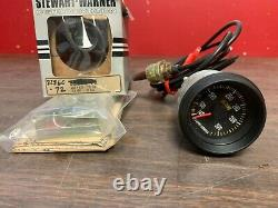 Vintage Stewart Warner Mechanical Oil Temperature Gauge Indicator Nos Sw 321