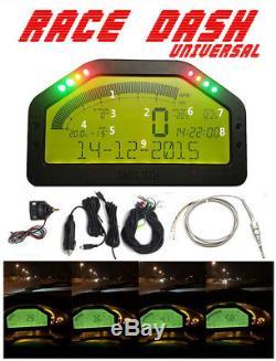 12v Tableau De Bord De Voiture Rallye Écran LCD Gauge Dash Race Display Sensor Kit Bluetooth