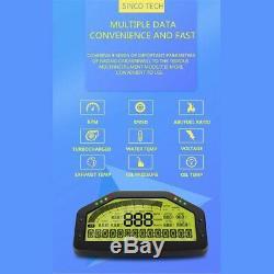 12v Universal Multifonctions Voiture De Course Dash Dashboard LCD Rallye Gau O6h4
