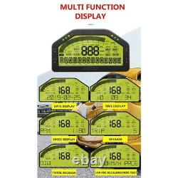 20x12v Universal Multifonctions Race Car Dash Dashboard LCD Rallye R5s4