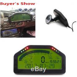 9000rpm Tacho Car Dash Race Display Sensor Kit Gauge Rallye De L'écran LCD Bluetooth