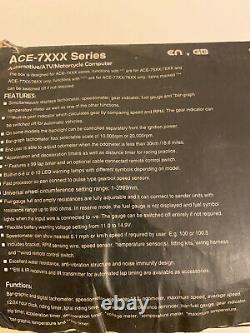 Acewell Digital Speedo Tacho Dash Display Kit Car Race Rally & Vtt Ace7659