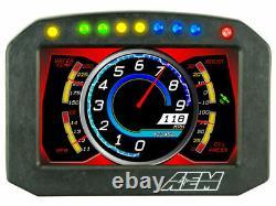 Aem Cd-5fl Carbon Flat Panel 5 Digital Race Car Dash Display Modèle Non Gps