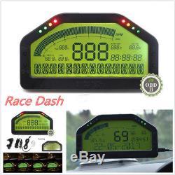 Course Dash Voiture Affichage Obd2 Bluetooth, Écran LCD Tableau De Bord Gauge Rallye Numérique