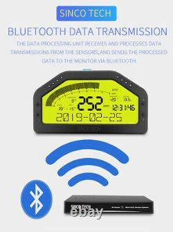 Do904 Dash Race Display Bluetooth Sensor Kit LCD Screen Gauge Meter Pour 12v Car