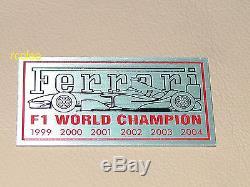 Ferrari F1 Champion Plate Dash Insigne D'emblème De Enzo F430 360 355 599 456 Italia 2