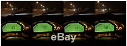 Jauge Rallye De L'écran LCD De Voiture Automatique Affichage Dash Race Capteur Bluetooth Led D'alarme