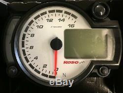 Koso Rx2nr Race Dash Vélo Kit Voiture Piste Tacho Rev Décalage Compteur Temp Lumière