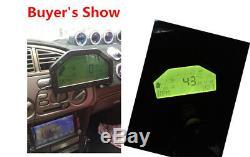 La Pleine Voiture Capteur Kit D'affichage De La Course Dash Rally Dashboard Monitor Gauge 9000 RPM