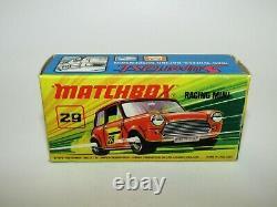 Matchbox Superfast No 29 Racing Mini Très Rare Dot-dash Wheels Vnmib