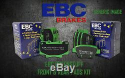 New Ebc Greenstuff Avant Et Plaquettes De Frein Arrière Kit Pads Performance Padkit1226