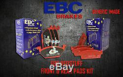 New Ebc Redstuff Avant Et Plaquettes De Frein Arrière Kit Pads Performance Padkit1679