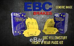 New Ebc Yellowstuff Avant Et Plaquettes De Frein Arrière Kit Pads Performance Padkit2184