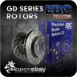 Nouveaux Disques Avant Ebc Turbo Groove Paire Disques De Performance Oe Quality Gd7253