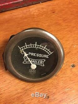 Old Gauge Us U S Vintage Dash Instrument Rat Rod Prewar Voiture De Course Chandler Huile