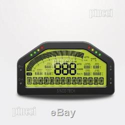 Sinco Tech Do908 Voiture De Course Dashboard Dash Racing Gauge Affichage Plein Écran Capteur Kit