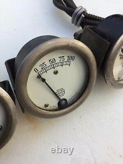 Speedster Race Prewar Gauge Voiture Hot Rod Scta Vintage Old Dash Instrument Trog