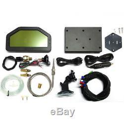 Tableau De Bord De Voiture Universel LCD Rallye Gauge Dash Race Display Sensor Kit Bluetooth