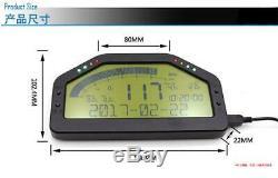 Universal Car Dash Race Obd2 Bluetooth Tableau De Bord LCD Gauge Numérique À 7000rpm &